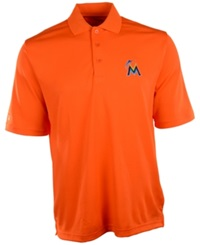 Antigua Men's Short Sleeve Miami Marlins Polo Orange