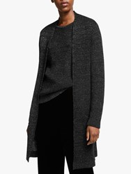 Eileen Fisher Long Merino Sparkle Cardigan Black