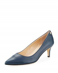 Neiman Marcus Stroll Leather Slip On Pump Blue