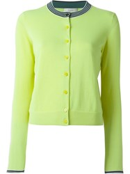 Paul By Paul Smith Contrast Neck Cardigan Green