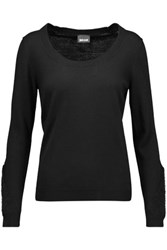 Just Cavalli Wool Blend Sweater Black