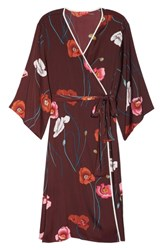 Josie Freestyle Satin Robe Burgundy