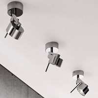Axo Light Ax20 Rotating Wall Sconce Silver