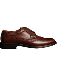 Burberry Leather Derby Brogues Brown