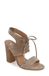 Dune Women's London 'Irana' Lace Up Sandal Grey Suede