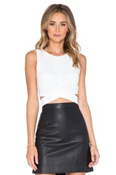 Lovers Friends X Revolve So Into You Crop Top White