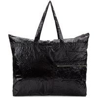 Dries Van Noten Black Large Zip Pocket Tote