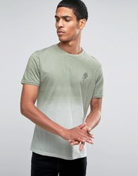 Hoxton Denim T Shirt Rose Dip Dye Brown