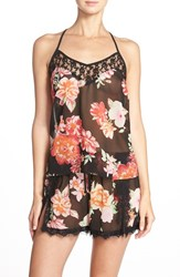Women's Band Of Gypsies Racerback Floral Chiffon Camisole