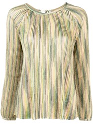 Missoni Longsleeved Loose Blouse Green