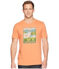 Life Is Good Minimalist Lake Crusher Tee Sandy Orange T Shirt