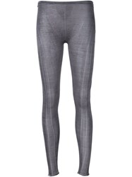 Label Under Construction Fine Knit Leggings Grey