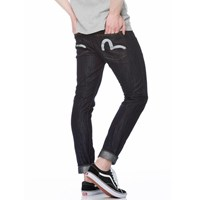 7cd4c2dd0297 Evisu Carrot Fit Seagull Reflective Print Selvedge Denim Jeans