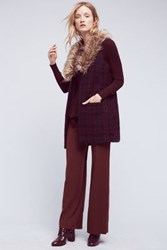 Anthropologie Monica Flannel Trousers Wine
