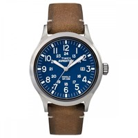 Timex Expedition Scout Watch Blue And Tan