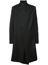 Lost And Found Ria Dunn Single Breasted Asymmetric Coat Black