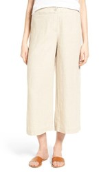 Eileen Fisher Women's Organic Linen Crop Pants Unnatural