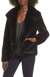 Leith Fur Fect Faux Fur Jacket Black