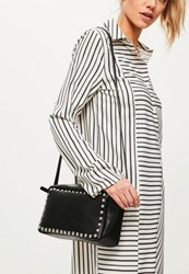 Missguided Black Stud Cross Body Bag
