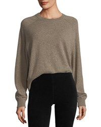 Vince Crewneck Long Sleeve Cashmere Pullover Sweater Brown