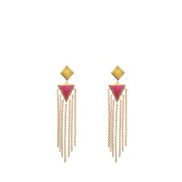Isharya Pyramid Quartz Fringe Exclusive Earrings