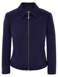 Viyella Petite Boiled Wool Jacket Ultraviolet