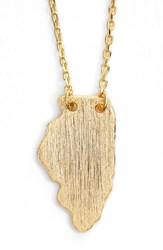 Women's Moon And Lola State Pendant Necklace Gold Illinois