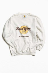Urban Outfitters Vintage Hard Rock Cafe New Orleans Crew Neck Sweatshirt White