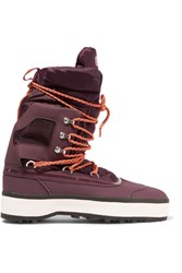 Adidas By Stella Mccartney Nangator Rubber And Quilted Shell Boots Grape