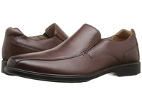 Hush Puppies Hulett Workday Tan Wp Leather Men's Slip On Dress Shoes