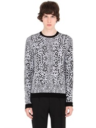 Versus Capsule Cotton And Viscose Jacquard Sweater