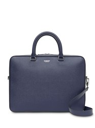 Burberry Grainy Leather Briefcase Blue