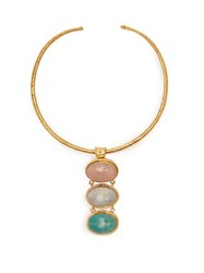 Sylvia Toledano Quartz Moonstone And Amazonite Choker Multi