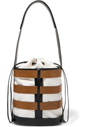 Trademark Hesse Canvas And Leather Bucket Bag Black