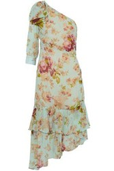 W118 By Walter Baker Sophina One Shoulder Tiered Floral Print Georgette Dress Multicolor
