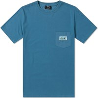 Stussy Red Eyes Pigment Dyed Pocket Tee Blue