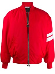 Gcds Fitted Bomber Jacket Red