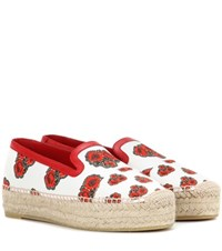 Alexander Mcqueen Canvas Espadrilles Multicoloured