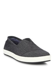 Toms Chambray Slip On Sneakers Black