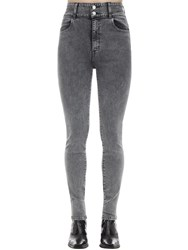 J Brand Elsa High Skinny Cotton Denim Jeans Dark Grey