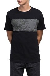 Rvca Men's Jungle Roll T Shirt Black
