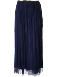 Amen Tulle Maxi Skirt Blue