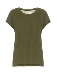 Current Elliott The Crew Neck Cotton T Shirt Khaki