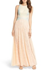 Adrianna Papell Women's Colorblock Lace Gown