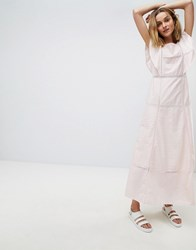 Paul And Joe Jo Sister Frill Maxi Dress Light Pink