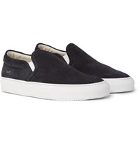 Common Projects Suede Slip On Sneakers Black