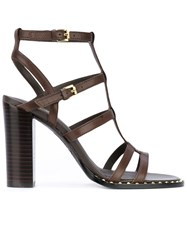 Ash Strappy Sandals Women Leather 38 Brown