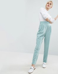 Asos High Waist Tapered Trousers Mint Green