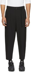 Attachment Black Belted Wide Leg Trousers