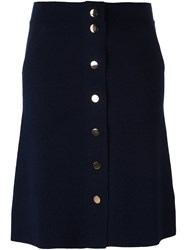 Allude Buttoned Skirt Blue
